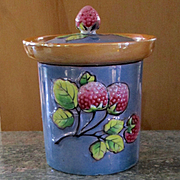Adorable Luster Ware Takito Co. 3 Dimensional Raspberry Jam Jar