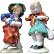 Darling Porcelain Girl Boy German Figurines