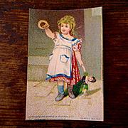 Original Victorian Album Card Girl With Doll Wemple Kronheim NY