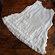 Circa 1920's Lace Ruffled Dress/Petticoat For Larger Doll