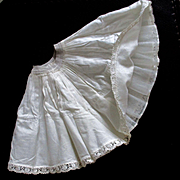 Vintage Full Ruffled Petticoat For Smaller Doll