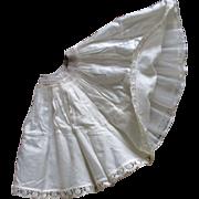 Vintage Full Ruffled Petticoat For Smaller Doll