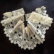 Irish Crochet Lace Piece Doll Hem Or Collar