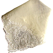 Exquisite Vintage Rare Pina Linen Wedding Handkerchief