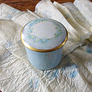 Nippon Luster Hand Painted Powder Jar
