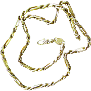 Heavy Vintage Italy 14K Cable Chain Necklace 20 Grams