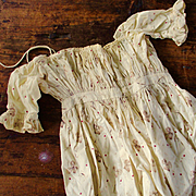 Victorian Fabulous Print Calico Dress With Provenance