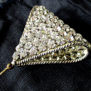 Large Striking Edwardian  Triangular Hatpin 108 Stones