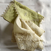 Silk Embroidered Wedding Hanky Monogrammed Linen Case
