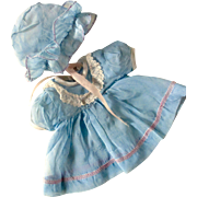 For Effanbee Or Tiny Tears Factory Nylon Organza Dress Bonnet