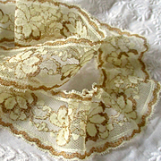 Delicate Two Tone Metallic Lace For Doll  Flounce
