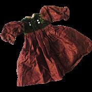 Darling Antique Silk Velvet Doll Dress