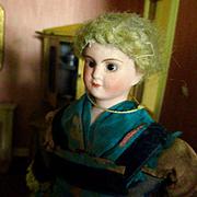 "Jules Verlingue 8"" French Matron Doll Original Silk Dress"