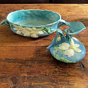 Roseville Clematis Large Console and Ewer