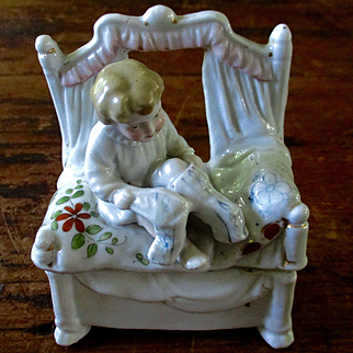 Victorian Fairing Child Donning Stockings Dollhouse
