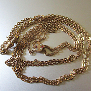 Victorian GF Watch Chain 10K Slide Seed Pearls Garnets S B Co.