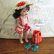 50's  Bathing Suit Hat Vogue Doll Flippers Life Jacket Muffie Ginny