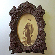 Pre-Civil War Gutta Percha Frame Grapes Dated 1855 For Dollhouse