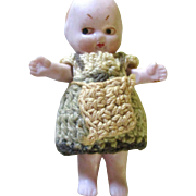 Tiny Baby Bisque Original Knitted Dress Apron