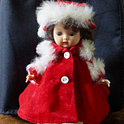 Ginger's Velvet Fur Christmas Outfit 4 Pieces