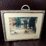 Fred Thompson Miniature Hand Colored Dollhouse Picture Frame