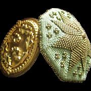 Beautiful Victorian Lady's Beaded Coin Purse Mistletoe