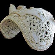 Early 1900's Lacy Straw Doll Bonnet