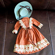 Antique Hand Sewn Doll Dress Hat