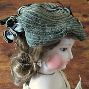Fabulous French Fashion Doll Ribboned Horsehair Hat