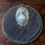 Very Small Victorian Flue Cover Girl At Mirror