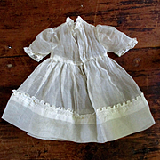 Edwardian/Deco Pretty Organdy Dress For Smaller Doll
