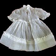 Edwardian/Deco Pretty Organdy Dress For Smaller Doll