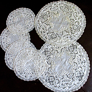 Beautiful Embroidered Doily Tea Set 6 Pieces