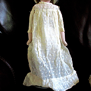 Early Woven Dotted Muslin Doll Gown