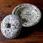 Covered Soap Dish Strainer Chintz Porcelain