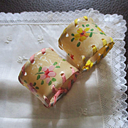 Art Deco Celluloid Ribbon Napkin Rings For Dolls