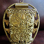 Victorian Gilt Wall Pocket With Gryphons