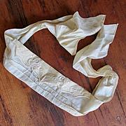Victorian Doll's Silk Cummerbund Bodice Sash