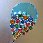 Edwardian Czech Crystal Fabulous Hat Pin