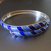 Stunning Cobalt Blue David Andersen Bangle Bracelet