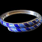 Stunning Cobalt Blue David Andersen Bangle Bracelet