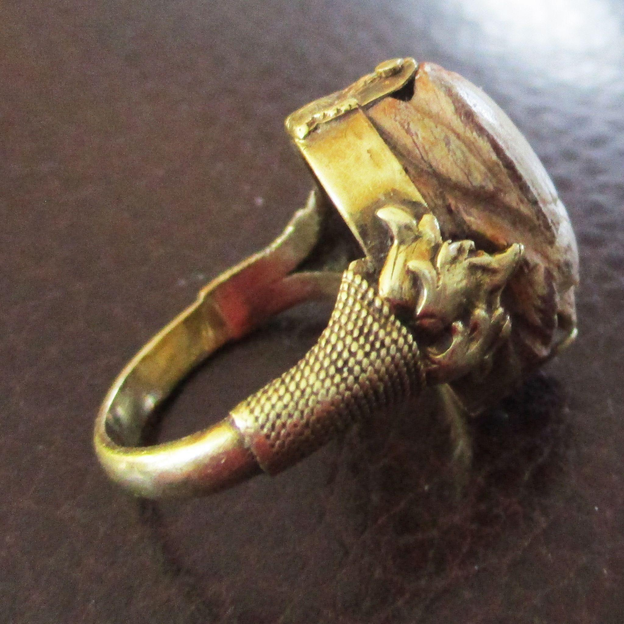 18K Deco Etruscan Revival Scarab Ring