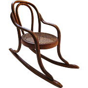 Antique Thonet Bentwood Doll Chair French 19C
