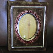 Victorian Silk Velvet Silver Metal Frame