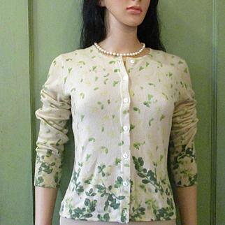 Bergdorf Goodman Printed Cashmere Cardigan