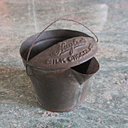 RARE Antique Miniature Huyler's Chocolate Tin Pitcher Candy Container