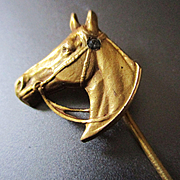 Gold Filled Horse Head Stick Pin