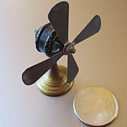 Art Deco Dollhouse Early Metal Table Fan France