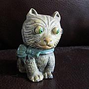 Full Cast Metal Googly Eyed Miniature Cat
