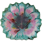 Etruscan Maple Leaf Shaped Majolica Plate - Red Tag Sale Item
